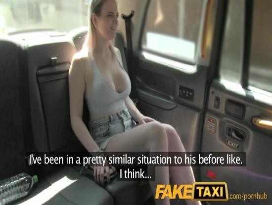Fake Taxi'ye Binen Sarışın Parasız Genç Kız